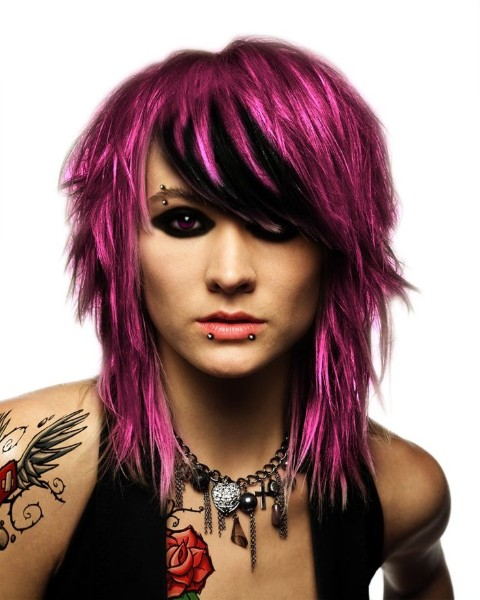 Multi Colors Emo Haircut