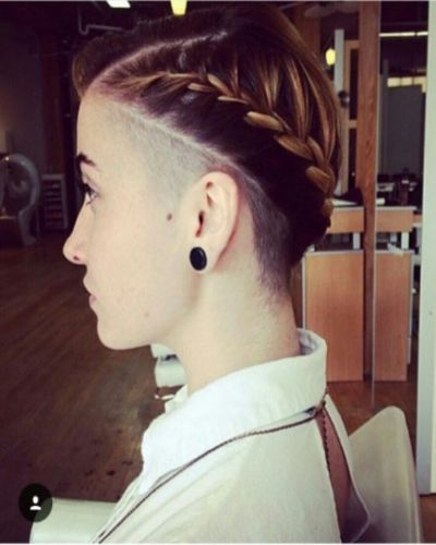 Half Shaved Hairstyles