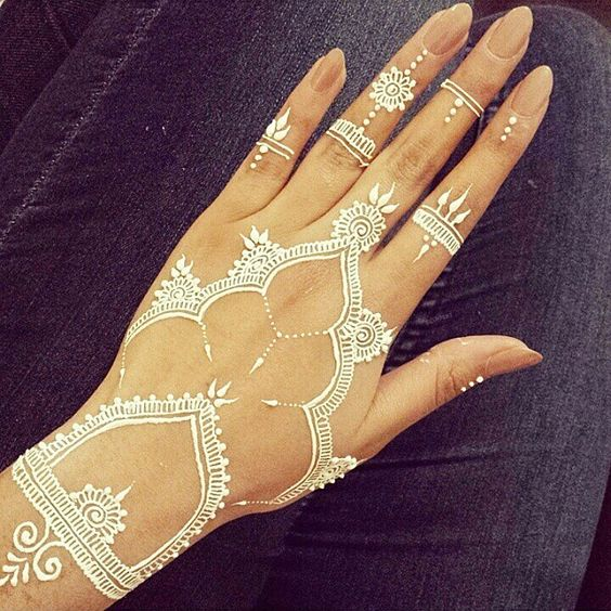 White Mehndi Tattoos