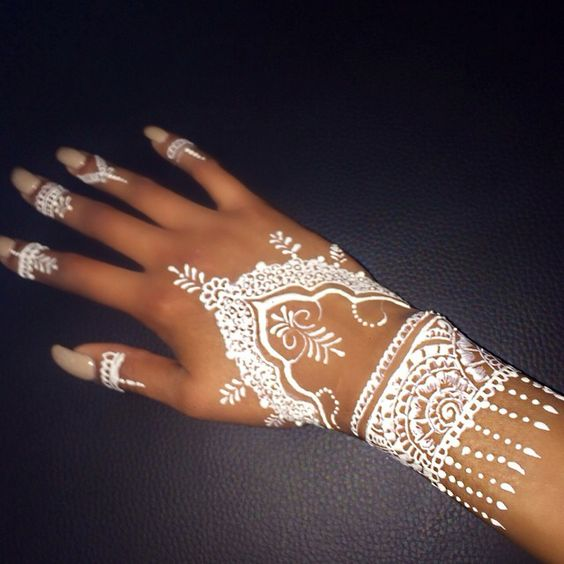 White Henna Tattoos