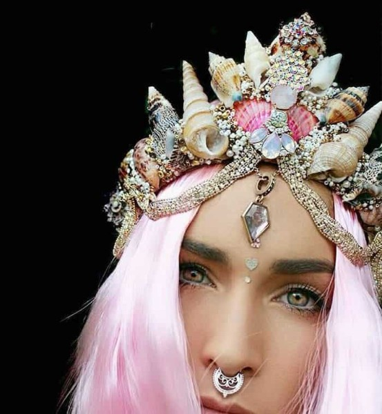 Mermaid Crowns With Real Seashells