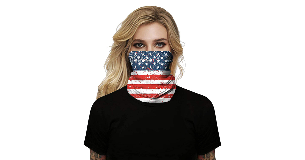Trail! You Can Restful Grab This Flag Face Cover in Time for 4th of July