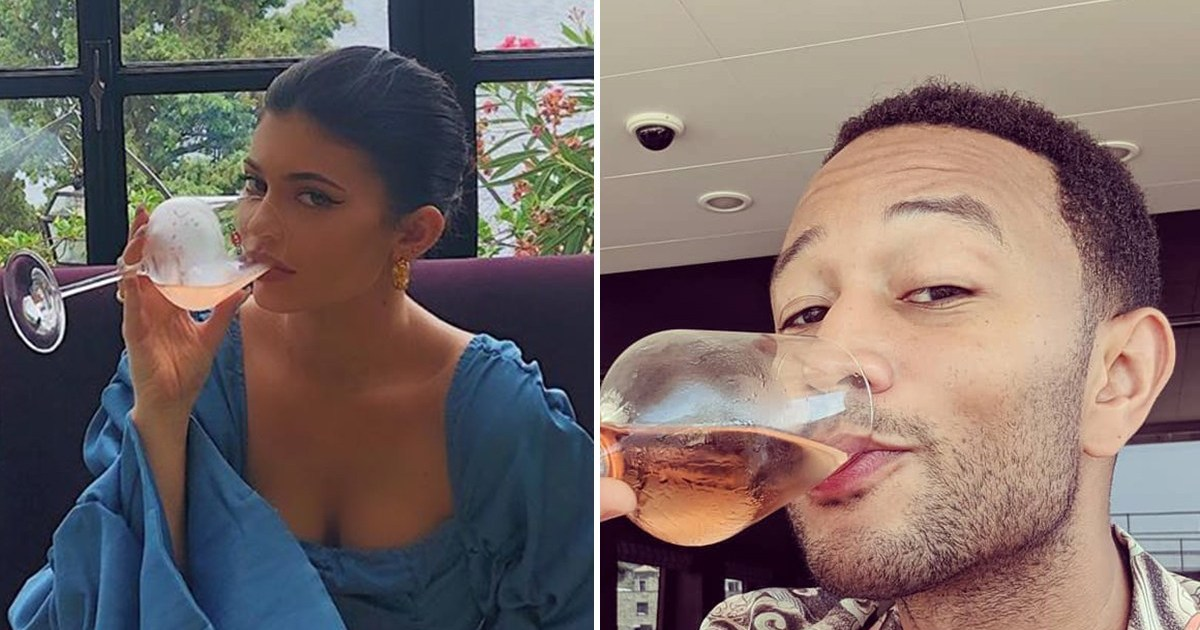 Kylie Jenner, John Legend and More Stars Who Love Pink Rose Wine