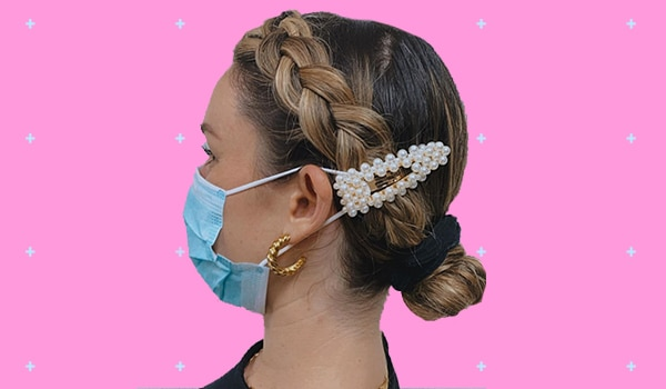 Try this hair clip hack to prevent face masks from hurting the ears